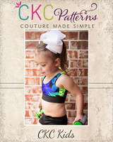 Laura's Loop-to-Loop Sports Bra Sizes 2T to 14 Kids PDF Pattern