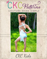Crystann's Criss Cross Dance Top & Hot Pants Sizes 2T to 14 Kids  PDF Pattern