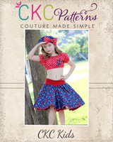 Sassy's Sock Hop Circle Skirt Sizes 2T to 14 Kids PDF Pattern