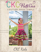 Jency's Wavy Pintuck Dress and Top Sizes 2T to 14 Kids PDF Pattern