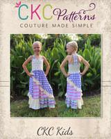 Marigold's Knit Mix-and-Match Dress and Maxi Sizes 2T to 14 Kids PDF Pattern
