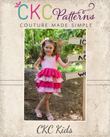 Isadora's Open Back Dress-up Top and Dress Sizes NB to 14 Kids and Dolls PDF Pattern