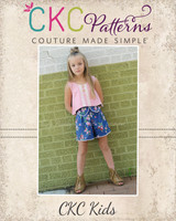 Kaelani's Reverse Crop Top Sizes 2T to 14 Kids PDF Pattern