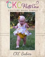 Halle's Romper Sizes NB to 18/24m Babies PDF Pattern
