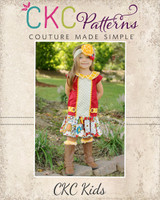 Della's Drop Waist Panel Dress and Tunic Sizes 2T to 14 Kids and Dolls PDF Pattern