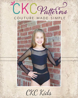 Galaxy's Glamorous Leotard Sizes 2T to 14 Kids PDF Pattern