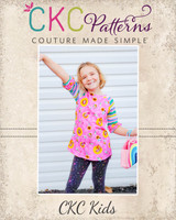 Sydney's Curved Hem Ruffle Raglan Top and Dress Sizes NB to 14 Kids PDF Pattern