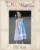 Lucy's Apron Knot Dress and Top Sizes 6/12m to 8 Kids and Dolls PDF Pattern