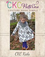Fern's Fleece Scarf Collar Pullover Sizes 2T to 14 Kids PDF Pattern