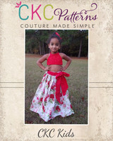 Faelynn's Floor Length Skirt Sizes 2T to 14 Kids and Dolls PDF Pattern