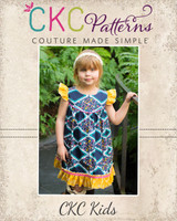 Moxie's Flutter Dress Sizes NB to 14 Kids PDF Pattern