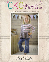 Esther's Ruched Top and Dress Sizes Newborn to 14 Kids PDF Pattern