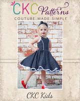 Sandra Dee's Rockabilly Swing Dress Sizes 2T to 14 Kids PDF Pattern