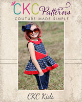 Presley's Pintuck Party Dress Sizes 2T to 14 Kids PDF Pattern