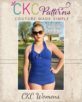 Freya's Retro One-Piece Swimsuit Sizes XXS to 3X Adults PDF Pattern