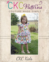 Grayson's Button Front School Girl Dress Sizes 2T to 14 Kids PDF Pattern