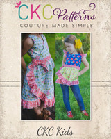 Melanie's Wrap Dress & Top Sizes 2T to 14 Kids PDF Pattern
