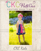 Samara's Stripwork Dress Sizes NB to 14 Kids PDF Pattern