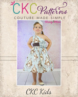 Paris' Party Dress Sizes NB to 15/16 Kids and Dolls PDF Pattern