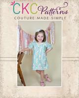 Bernadette's Top and Dress Sizes NB to 8 Kids PDF Pattern
