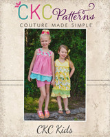 Mary's Vintage Dress & Top Sizes NB to 14 Kids PDF Pattern
