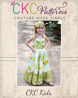 Peony's Sweetheart Maxi Dress Sizes 6/12m to 15/16 Kids and Dolls PDF Pattern