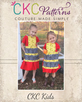 Gertrude's Gathering Apron & Dress Sizes 2T to 14 Kids PDF Pattern