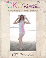Ella's Retro Ruched Swimsuit Sizes XXS to 3X Adults PDF Pattern