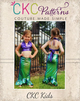 Ursula's Underwater Set Sizes 2T to 14 Kids PDF Pattern