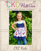 Sutton's Circle Neck Tunic & Dress Sizes 2T to 14 Kids PDF Pattern