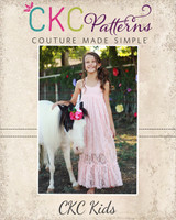 Lynx's Lace Maxi Dress Sizes 2T to 14 Kids PDF Pattern