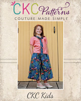 Whitley's Wide Leg Capris & Pants Sizes 2T to 14 Kids and Dolls PDF Pattern
