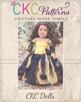 Vale's Dolls Corset Gown PDF Pattern