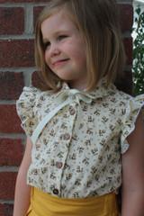 Theodora's Trendy Top Sizes 2T to 14 Kids PDF Pattern