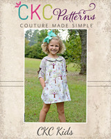 Portlyn's Front Pleat Top & Dress Sizes NB to 14 Kids PDF Pattern
