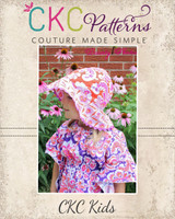 Ryann's Reversible Sun Hat Sizes 6/12m to 8 Kids PDF Pattern
