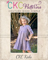 Pepper's Pleated Vintage Dress Sizes 2T to 14 Kids PDF Pattern