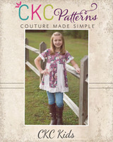 Vicki's Flared Knit Panel Tunic and Dress Sizes 2T to 14 Kids PDF Pattern