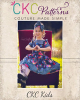 Maylee's Bow Hem Dress Sizes NB to 14 Kids and Dolls PDF Pattern
