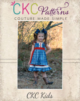 Amorette's Lovely Knot Dress Sizes NB to 14 Kids and Dolls PDF Pattern