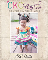 Amorette's Lovely Knot Dress Doll Sizes PDF Pattern