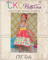 Suzie's Twirly Halter Top and Dress Sizes NB to 15/16 Kids and Dolls PDF Pattern