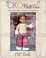 Rainey and Channing Doll Sizes PDF Pattern