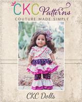 Adorabella's Crossover Dress, Tunic, and Ruffle Pants Doll Sizes  PDF Pattern