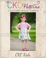 Teagan's Fitted Bubble Dress Sizes 6/12m to 8 Kids and Dolls PDF Pattern