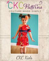 Winlee's One Shoulder Dress Sizes 2T to 14 Kids PDF Pattern