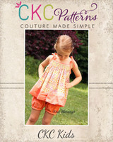 Cricket's Smocked Cami Set Sizes NB to 14 Kids PDF Pattern
