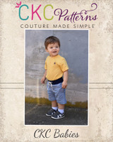 Tucker's Babies Knit Waist Woven Shorts PDF Pattern