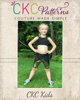 Yarley's Crop Top Sizes 2T to 14 Kids PDF Pattern