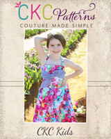Gidget's Retro Dress Sizes 2T to 14 Kids PDF Pattern